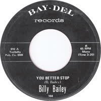 Billy Bailey - You Better Stop