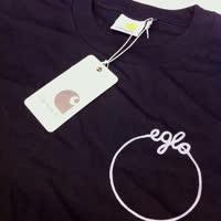 Eglo Records - Eglo Original Logo Tee (Black with Grey Logo)